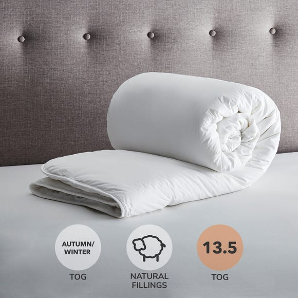 Fogarty Down Touch 13.5 Tog Duvet White undefined