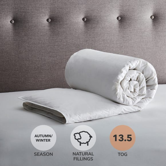 Fogarty White Goose Feather and Down 13.5 Tog Duvet White undefined