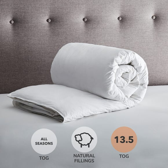 Fogarty White Goose Feather and Down All Seasons 13.5 Tog Duvet White undefined