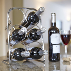 Hahn Pisa Chrome 6 Bottle Wine Rack