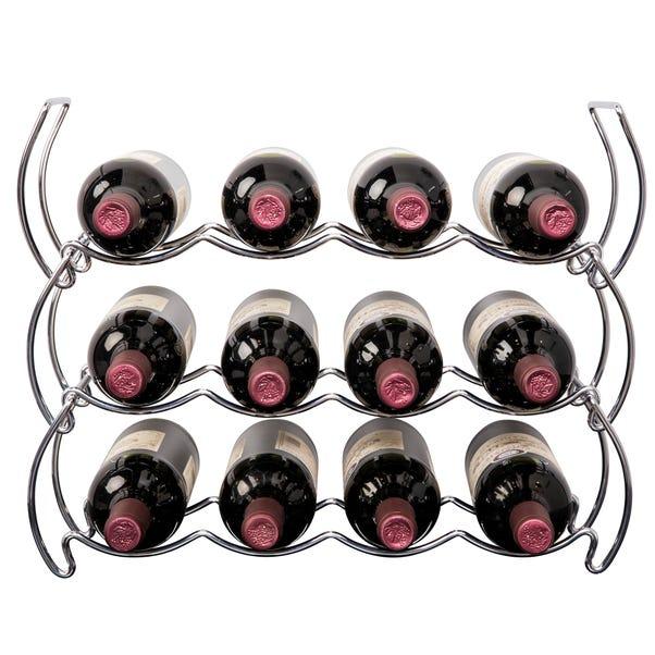 Hahn Stack Rack Chrome 12 Bottle Wine Rack Chrome