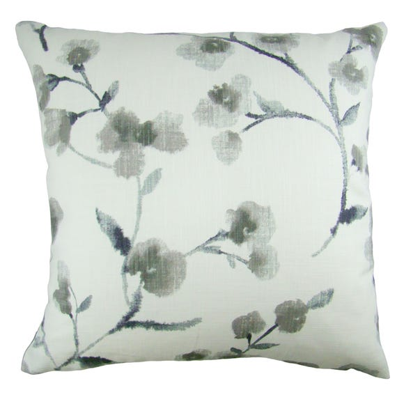 Naomi Floral Cushion Cover Grey undefined