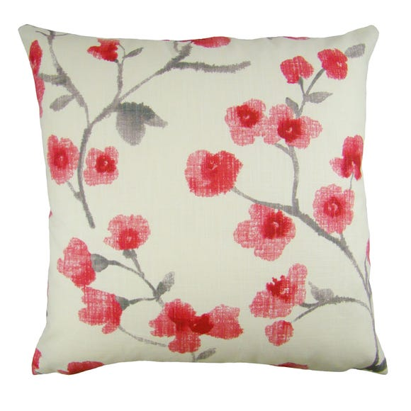 Naomi Floral Cushion Cover Red undefined