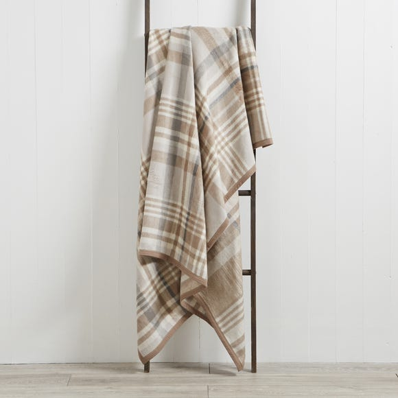 Thermosoft Plaid Check Natural Throw  undefined