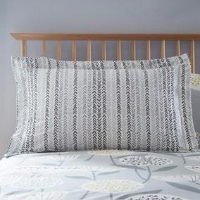 Elements Emmott Oxford Grey Pillowcase