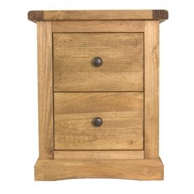 Esbon 2 Drawer Wide Bedside Table