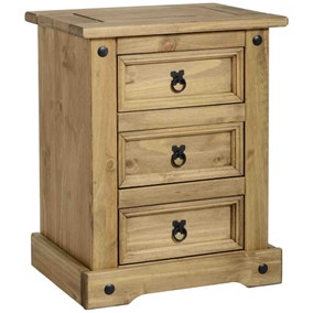Premiere Corona 3 Drawer Bedside Chest