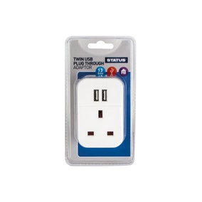Status Twin USB Plug Through Adaptor