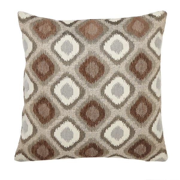 Chenille Diamond Ikat Natural Cushion Cover Natural