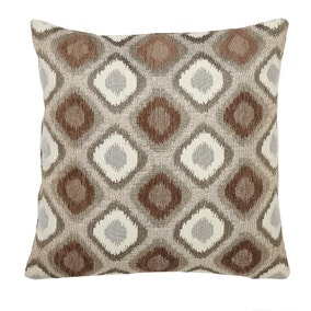 Chenille Diamond Ikat Natural Cushion Cover