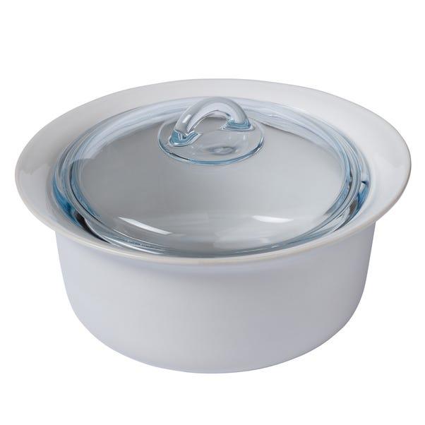 Pyrex Supreme 2.5 Litre Casserole Dish White