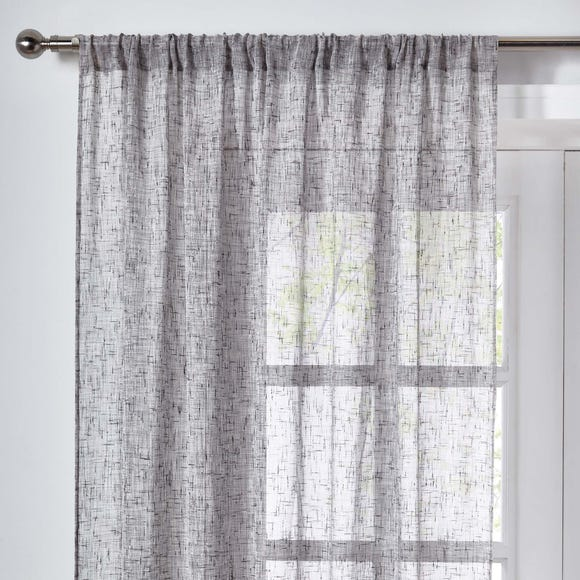 Elements Anderson Grey Slot Top Single Voile Panel  undefined