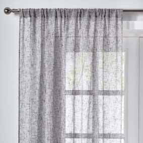 Elements Anderson Grey Slot Top Single Voile Panel