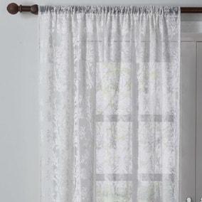 Dorma Winchester White Slot Top Single Voile Panel