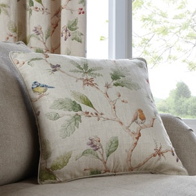 Dorma Woodland Birds Natural Cushion