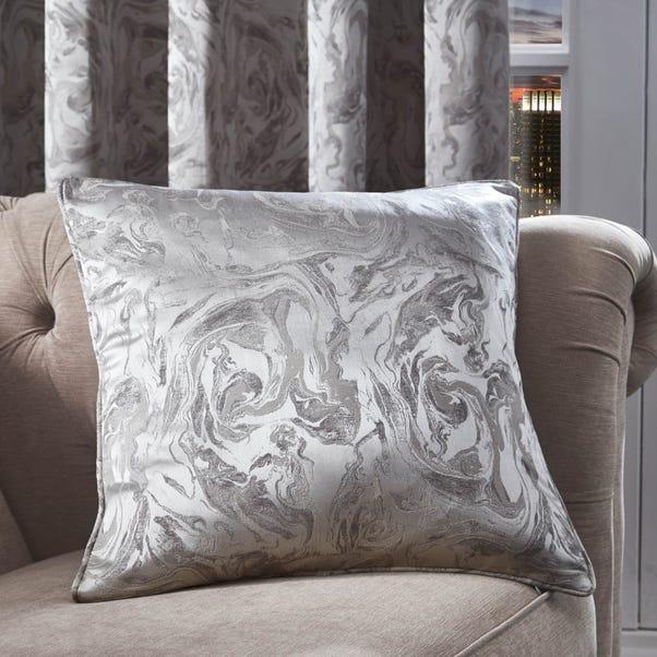 Diablo Marble Silver Cushion Silver