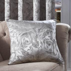 Diablo Marble Silver Cushion