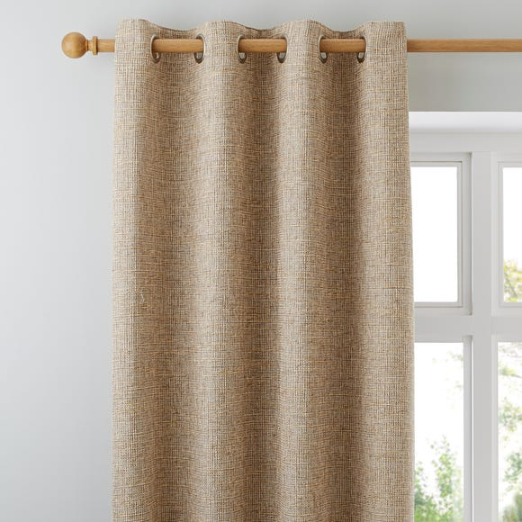 Thornton Ochre Eyelet Curtains Ochre undefined