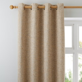 Thornton Ochre Eyelet Curtains