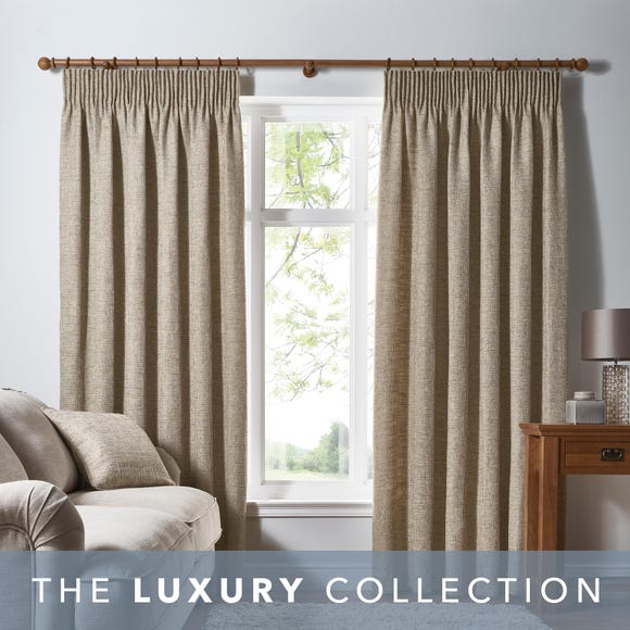 Thornton Ochre Pencil Pleat Curtains  undefined