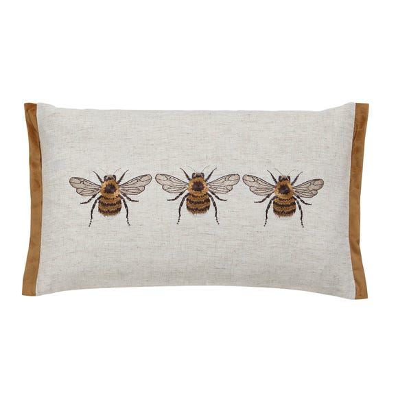 Bees Rectangular Cushion Natural