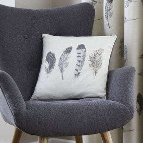 Idaho Charcoal Feather Cushion