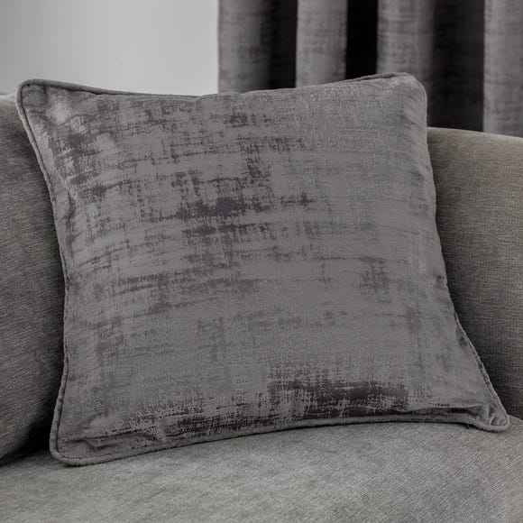 Ruben Grey Velvet Cushion Grey
