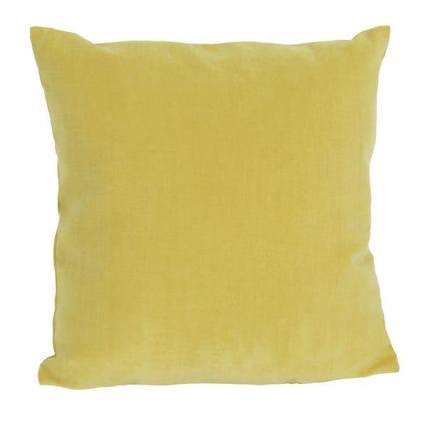 Velour Cushion Yellow undefined