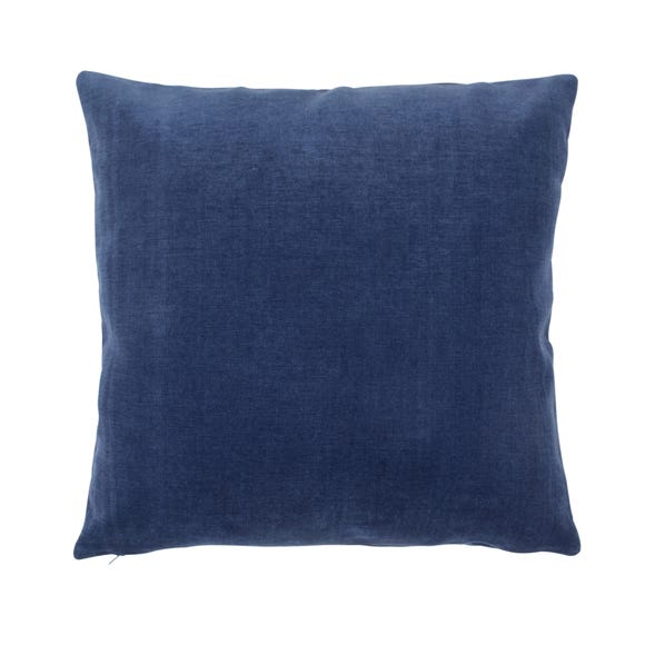 Velour Cushion Indigo (Blue) undefined