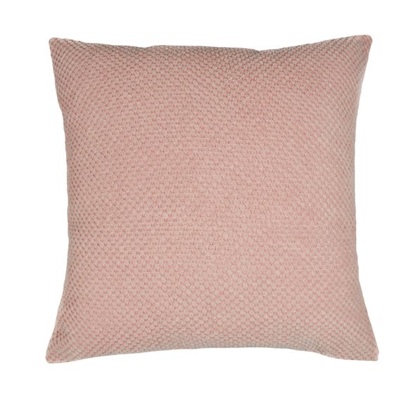 Chenille Spot Cushion Blush (Pink) undefined