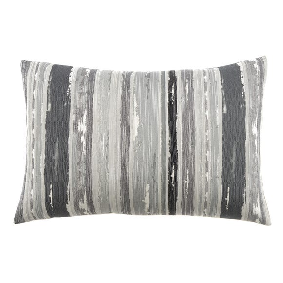 Large Isabella Charcoal Rectangular Cushion Charcoal