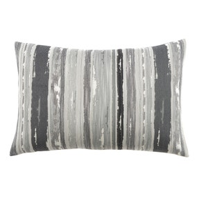 Large Isabella Charcoal Rectangular Cushion