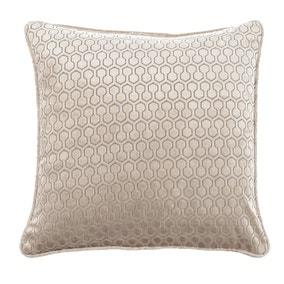 Geo Hexagon Gold Cushion