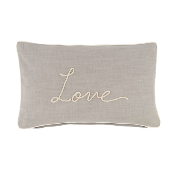 Country Love Rectangular Cushion Grey