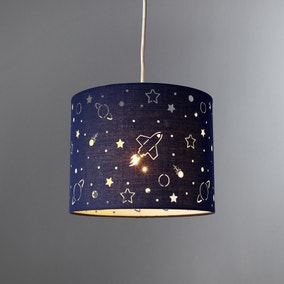 Space Laser Cut Glow in the Dark Light Shade