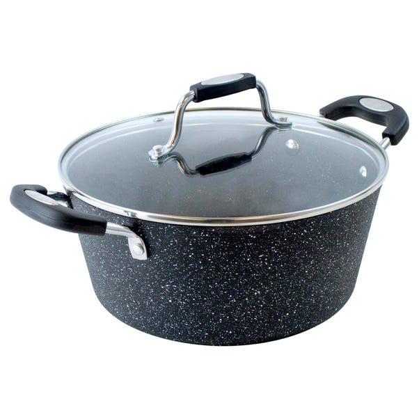 Scoville Neverstick 24cm Casserole Pan Black