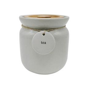 Grey Hang Tag Tea Canister