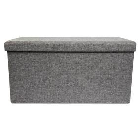 Foldable Grey Ottoman