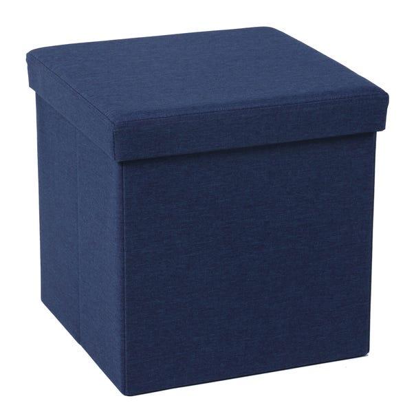 Foldable Navy Cube Ottoman