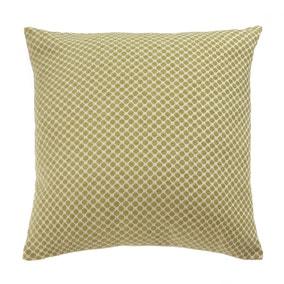 Large Chenille Green Polka Cushion