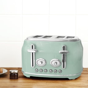 Retro Seafoam 4 Slice Toaster