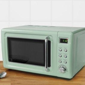 Retro 20L 800W Seafoam Digital Microwave
