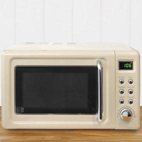 Retro 20L 800W Cream Digital Microwave