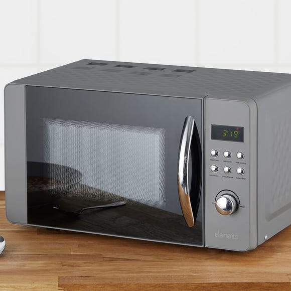 Elements 800W 20L Grey Microwave with Grill Grey