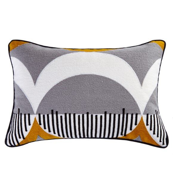 Elements Abstract Rectangular Cushion Multi Coloured