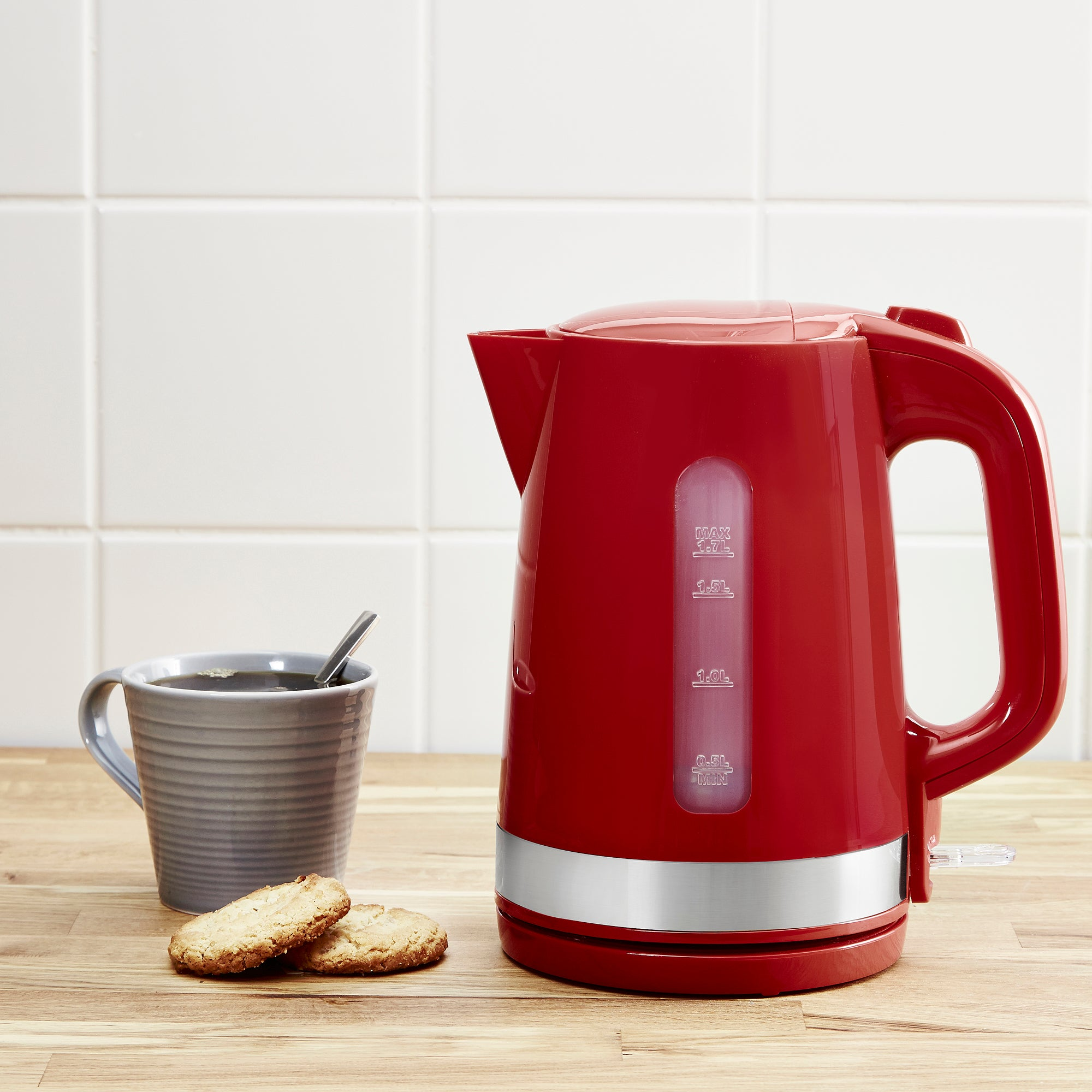 Dunelm 17l Red Kettle Red