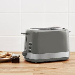 Dunelm 2 Slice Grey Toaster