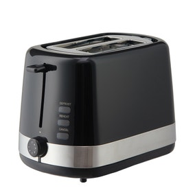 Dunelm Black 2 Slice Toaster