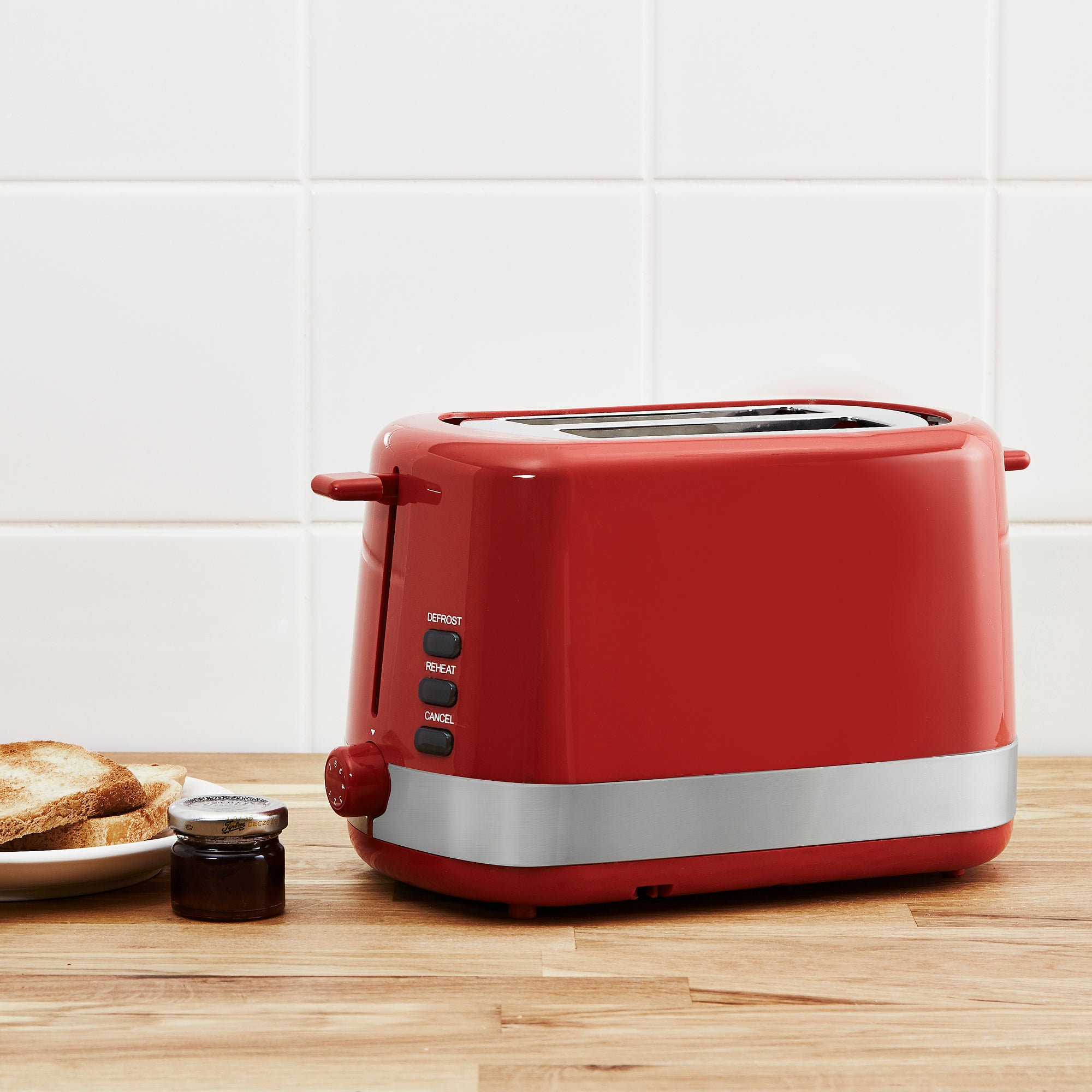 Click to view product details and reviews for Dunelm 2 Slice Red Toaster Red.