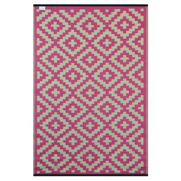 Nirvana Pink and Cream Rug  undefined